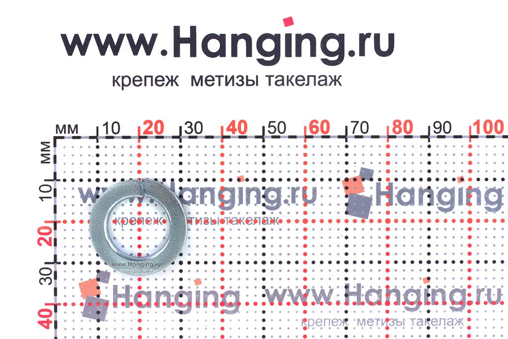 Размеры шайбы Гровера М14 цинк
