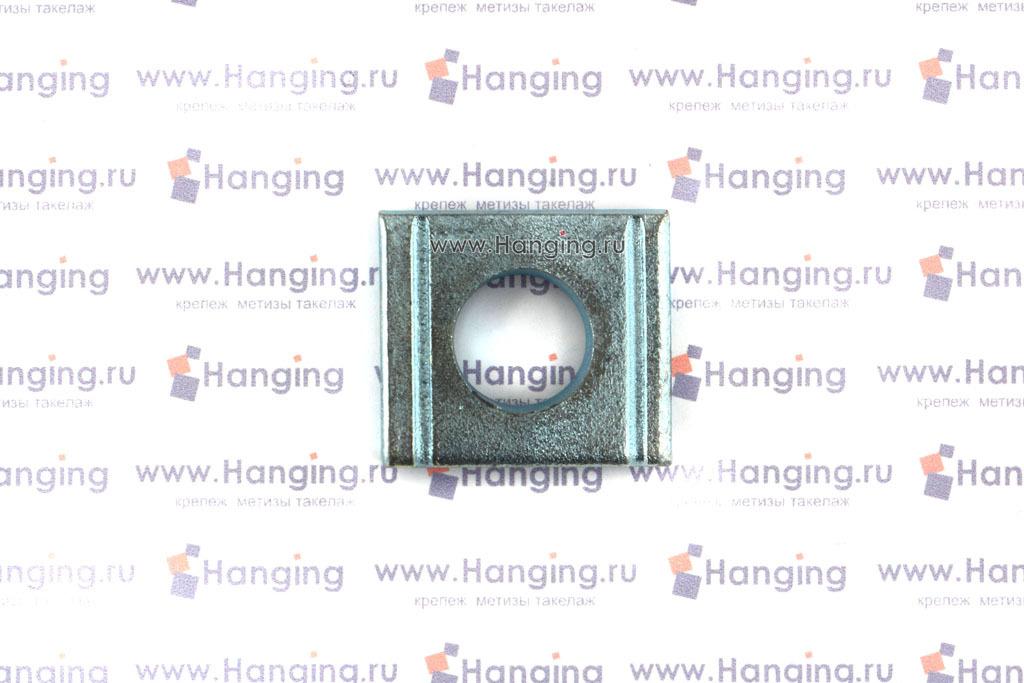 Оцинкованная квадратная косая шайба 13,5 мм ГОСТ 10906-78