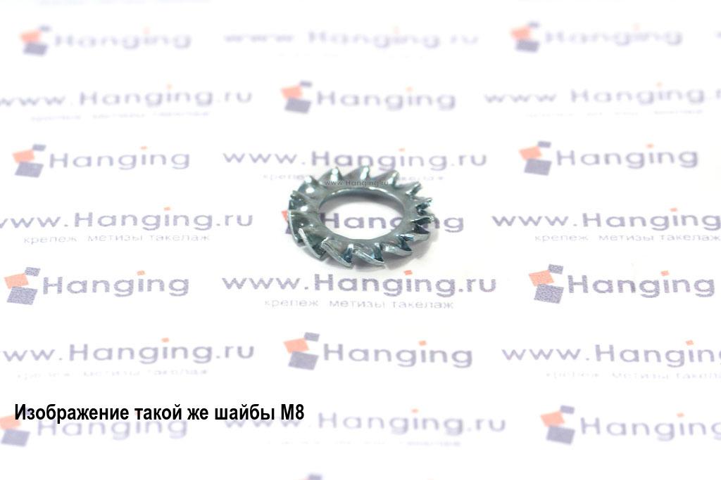 Шайба стопорная зубчатая М4 DIN 6798 Form A с наружными зубьями