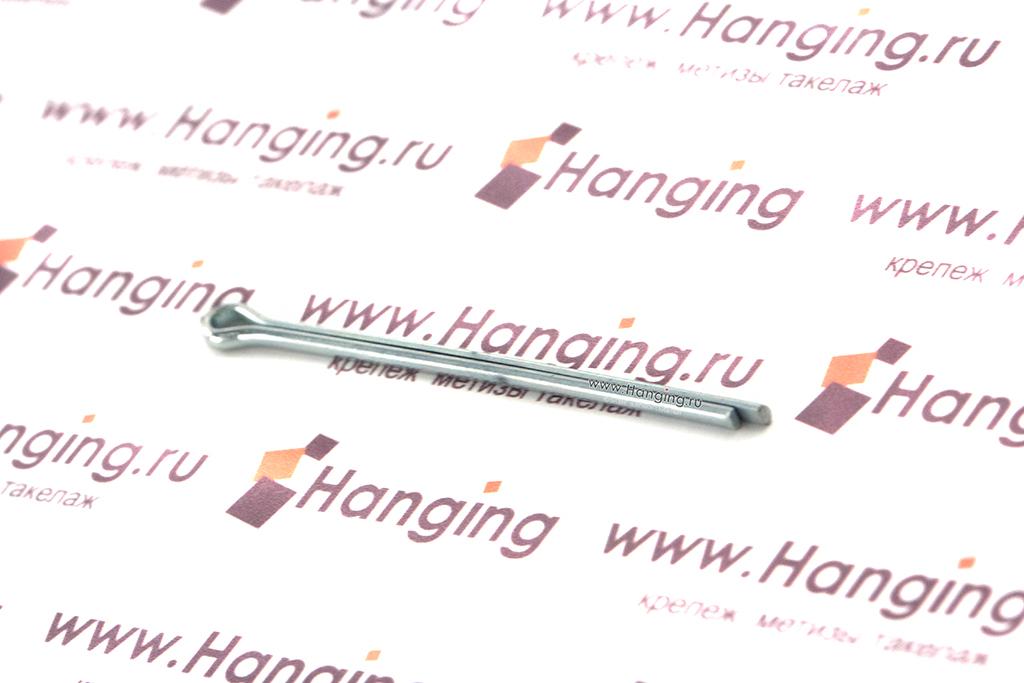 Размеры оцинкованного стального шплинта DIN 94 и ГОСТ 397-79 1х6 для резьбы М4 и осей 3–4 мм