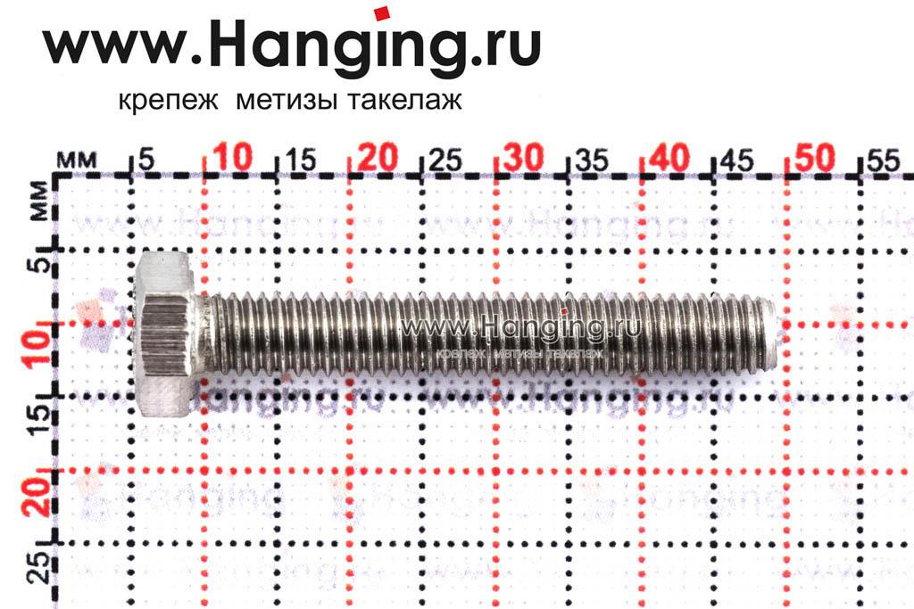 Размеры болта М6х40 DIN 933