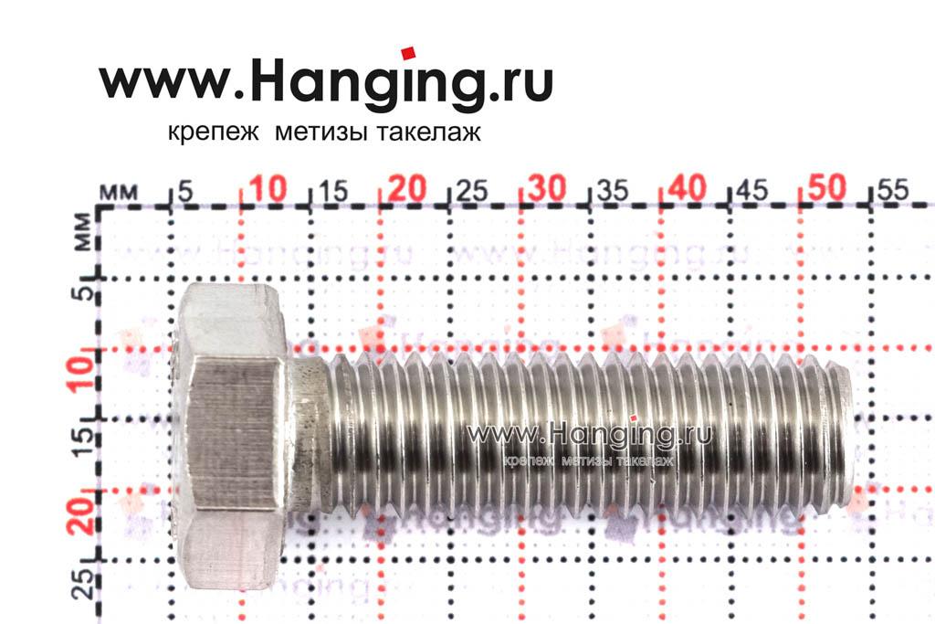Размеры болта М12х40 DIN 933