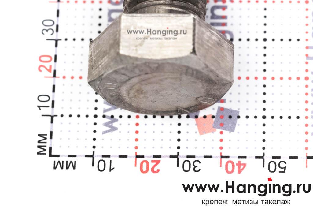 Головка болта М20х100 из нержавеющей стали А2 DIN 933