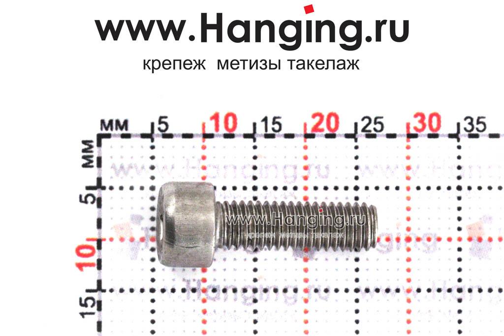 Размеры болта М5х16 DIN 912
