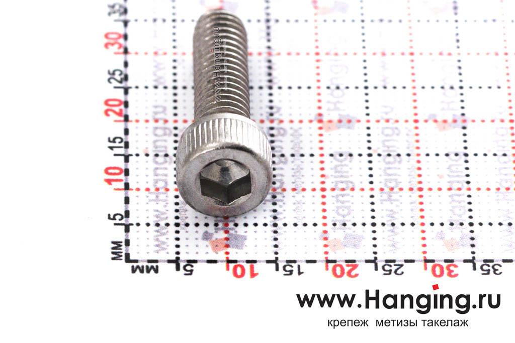 Головка болта М6х20 из нержавеющей стали А2 DIN 912