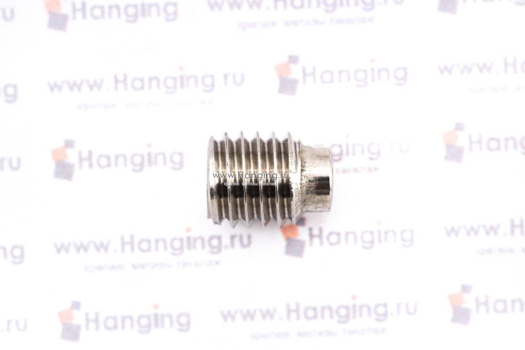 Болты М8х10 с неполной резьбой и шестигранной головкой из нержавеющей стали А4