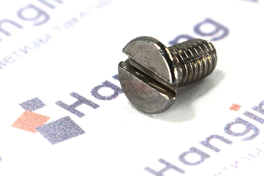 Винты М3х6 с потайной головкой из нержавеющей стали А2 DIN 963