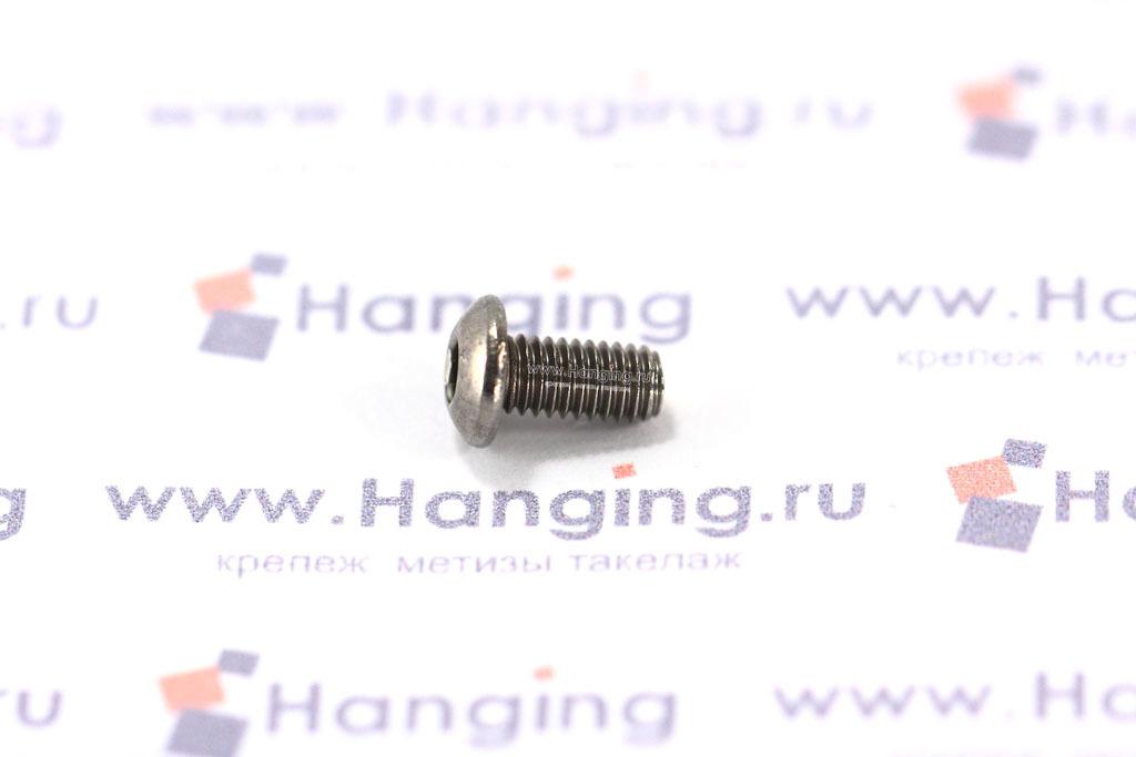 Винт DIN 7380 М3х6 из нержавеющей стали А2