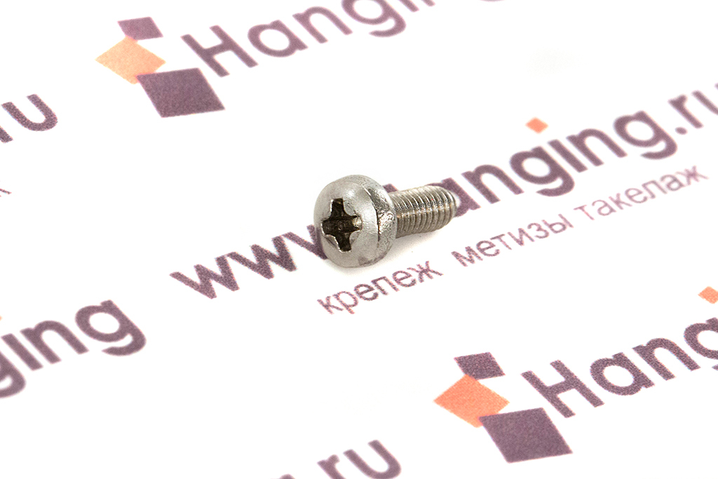 Винты М2,5х6 c полукруглой головкой из нержавеющей стали А2 DIN 7985
