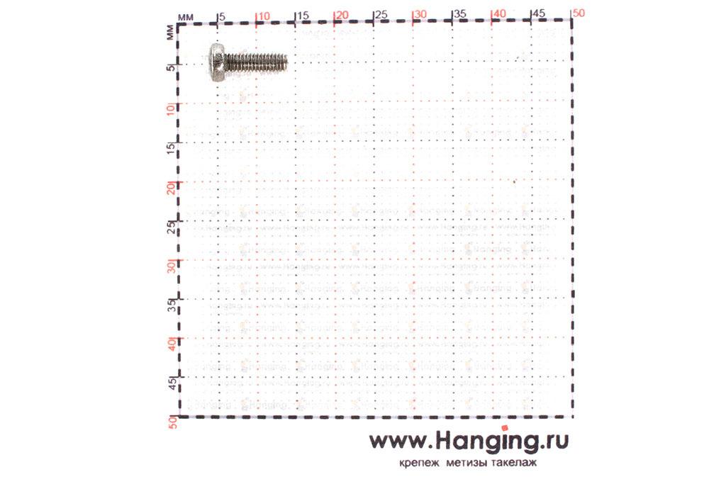 Размеры винта М2,5х8 из нержавейки А2 DIN 7985