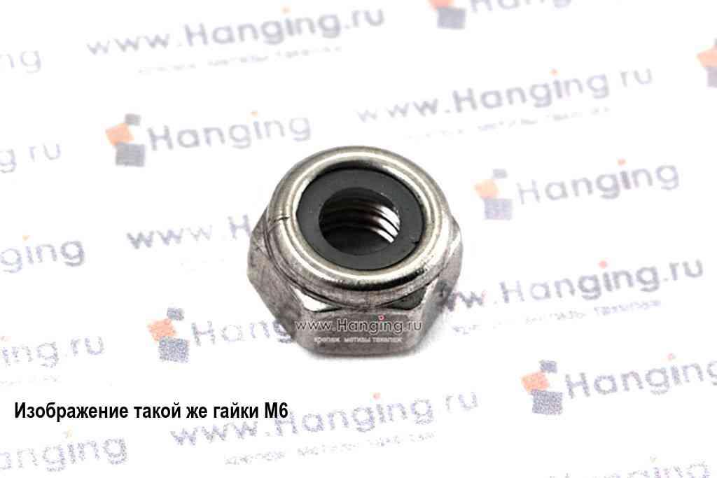 Гайка М5 шестигранная со стопорным кольцом из нержавеющей стали А2 DIN 985