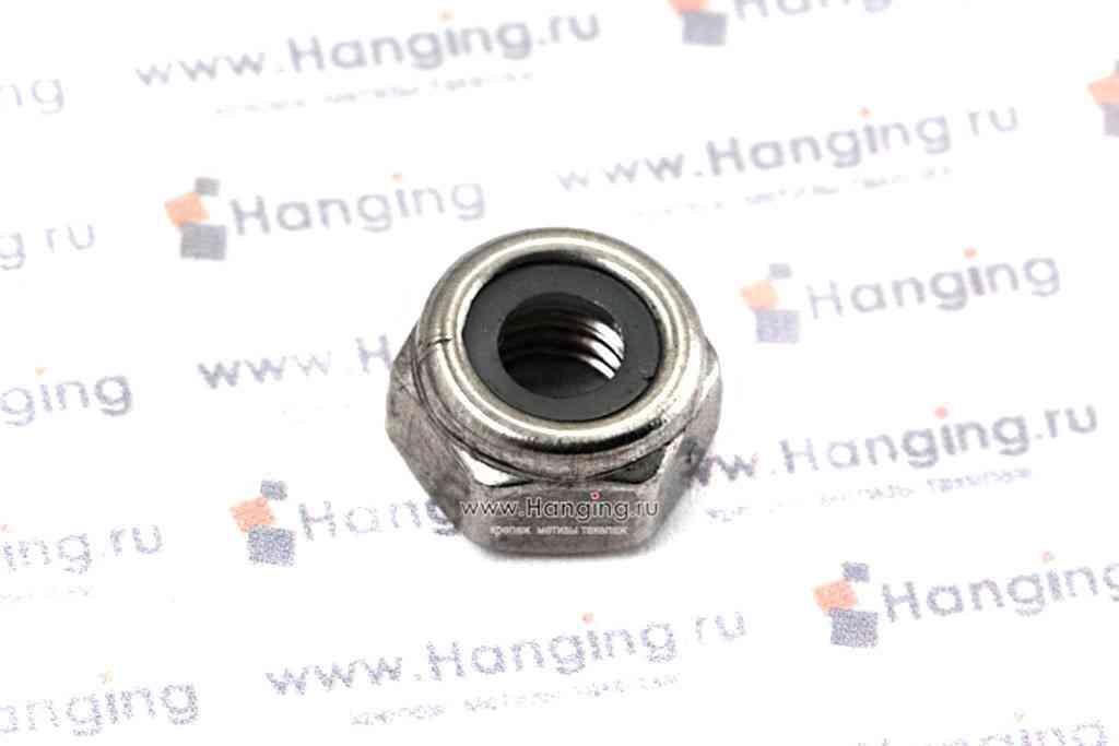 Гайка М6 шестигранная со стопорным кольцом из нержавеющей стали А2 DIN 985