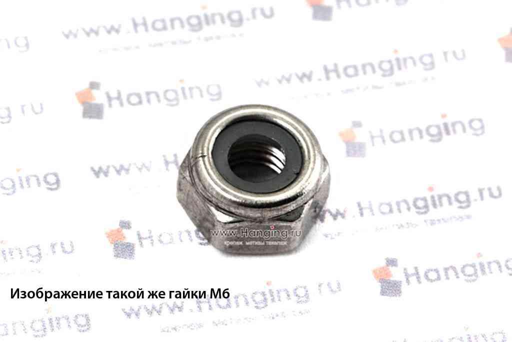 Гайка М8 шестигранная со стопорным кольцом из нержавеющей стали А4 DIN 985