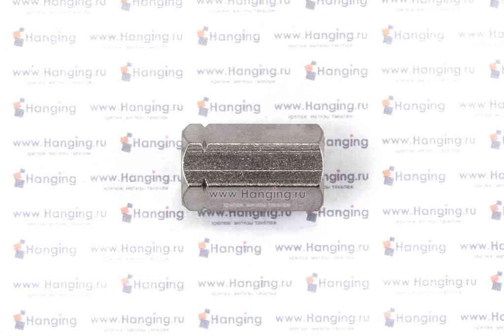 Гайки М8 шестигранные соединительные из нержавеющей стали А2 DIN 6334