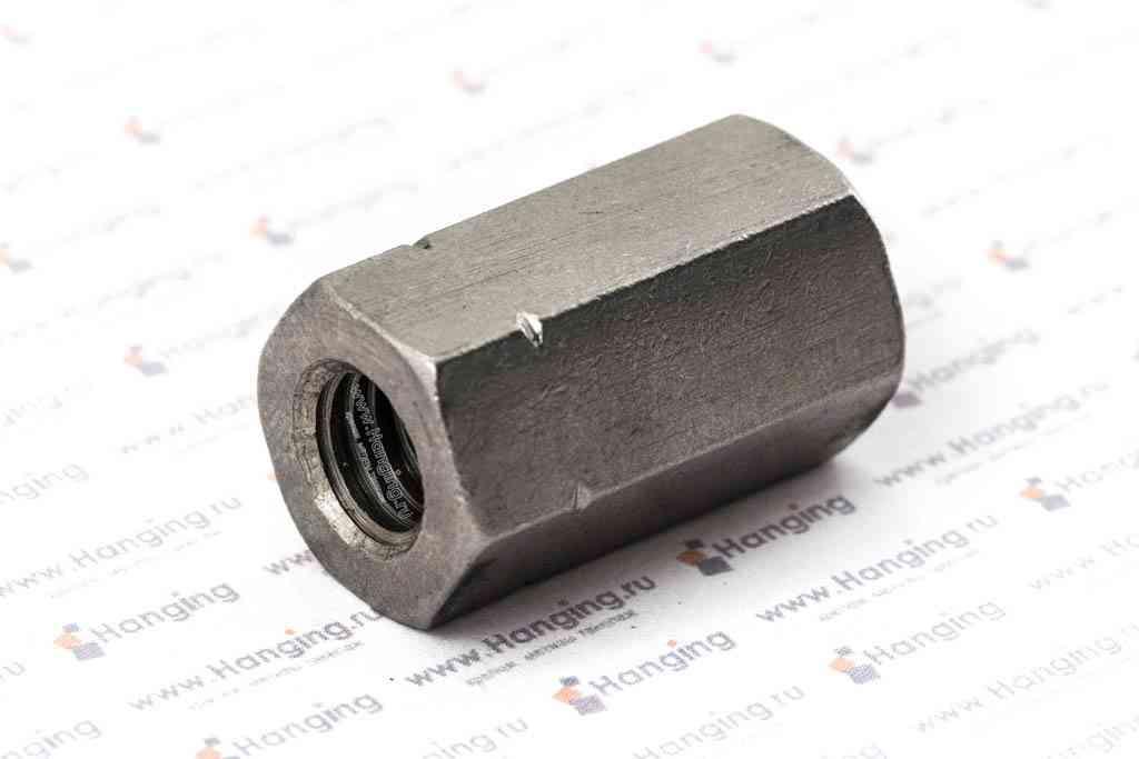 Гайка М10 шестигранная соединительная из нержавеющей стали А2 DIN 6334