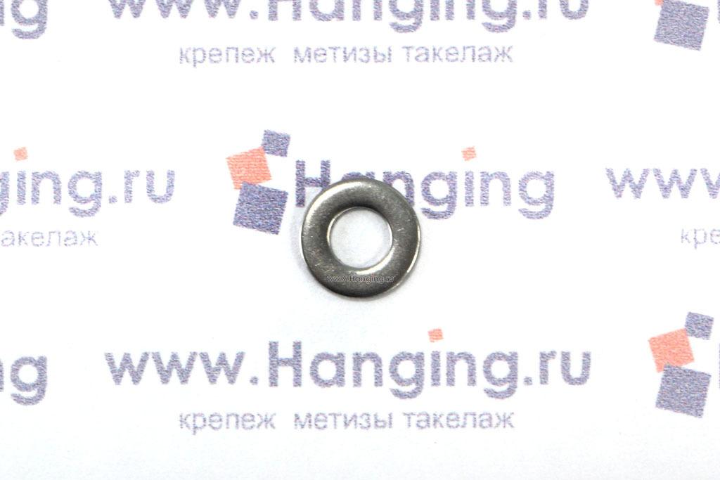 Шайбы М3 плоские из нержавеющей стали А2 DIN 125