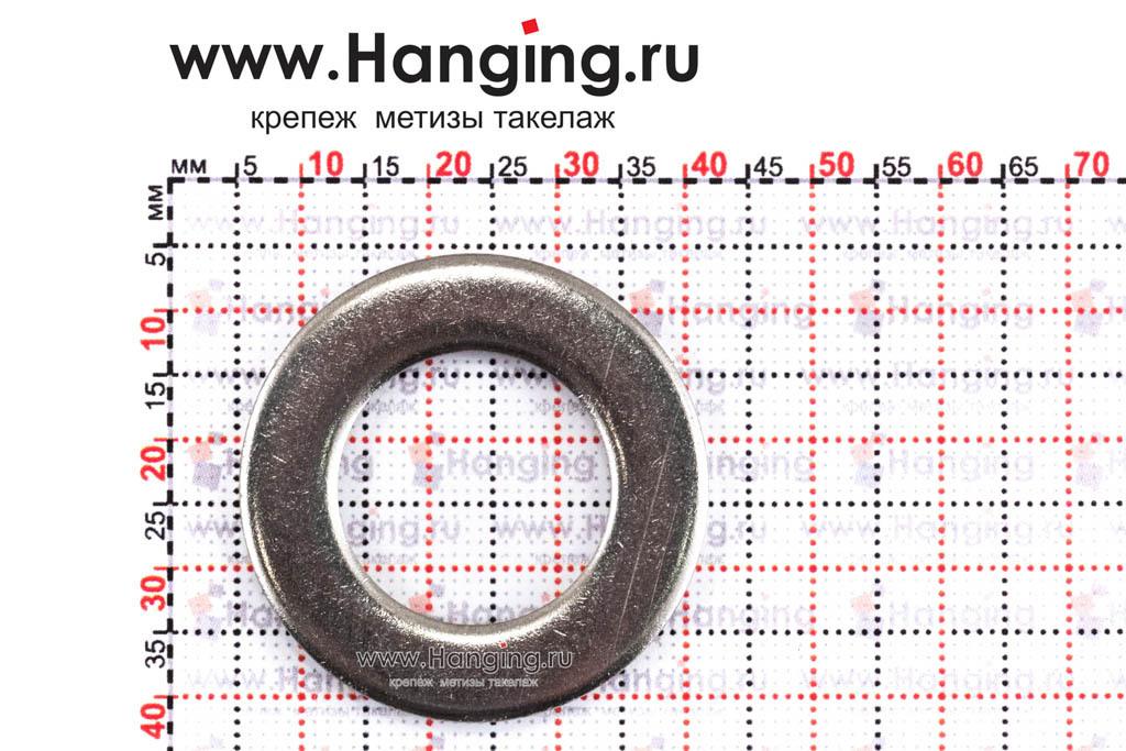 Размеры шайбы М20 плоской из нержавеющей стали А2 DIN 125