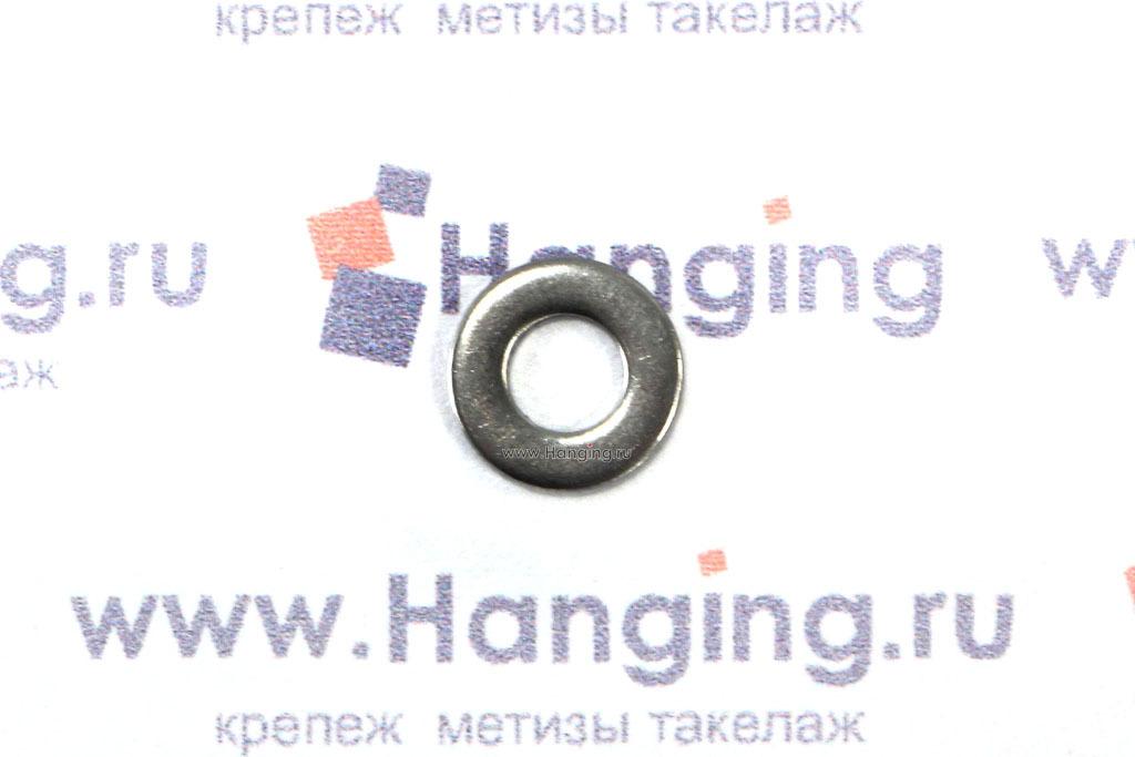 Шайбы М3 плоские из нержавеющей стали А4 DIN 125