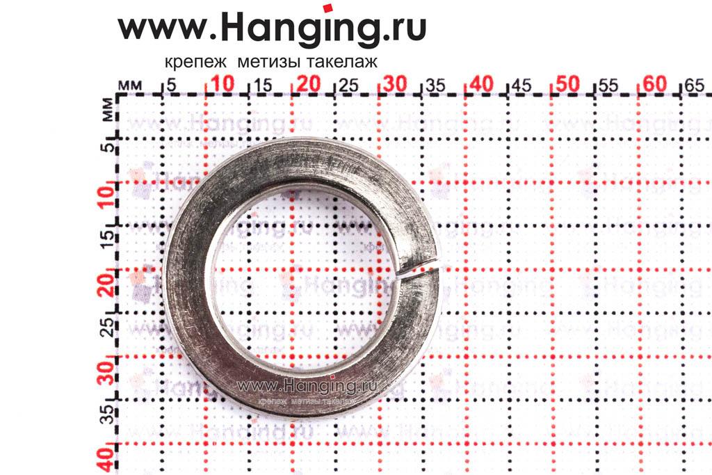 Размеры шайбы М20 пружинной (гровера) из нержавеющей стали А4 DIN 127
