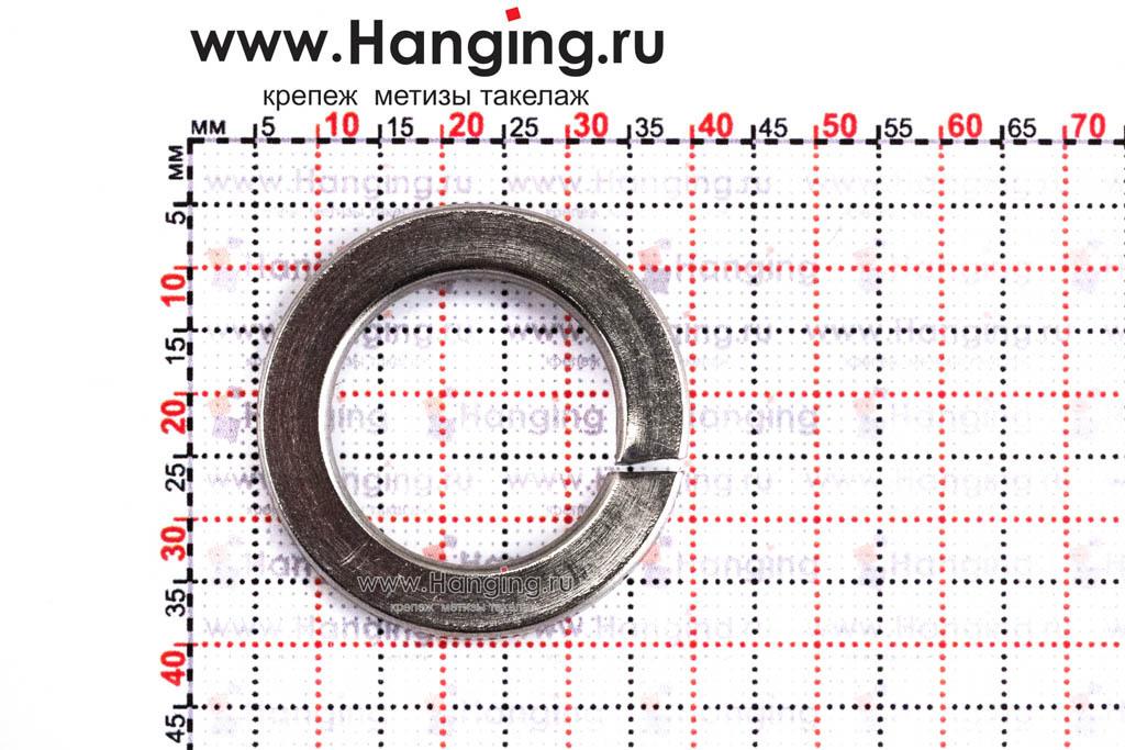 Размеры шайбы М22 пружинной (гровера) из нержавеющей стали А4 DIN 127