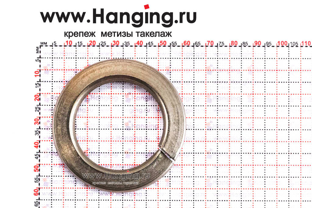 Размеры шайбы М36 пружинной (гровера) из нержавеющей стали А2 DIN 127