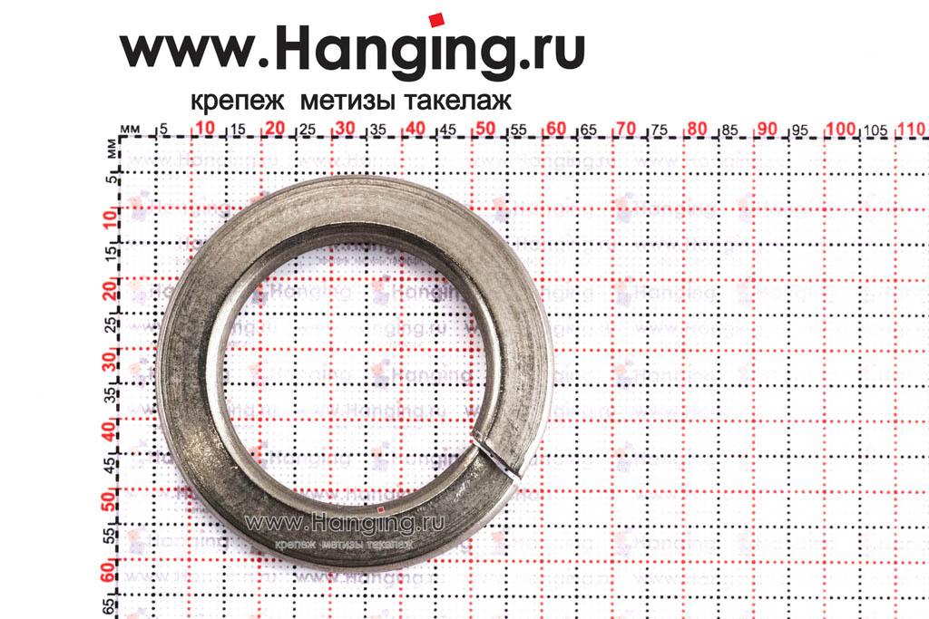 Размеры шайбы М36 пружинной (гровера) из нержавеющей стали А4 DIN 127