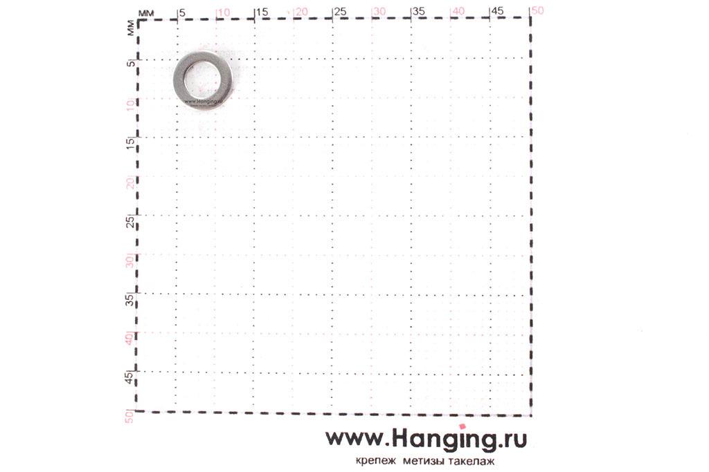 Размеры шайбы М4 узкой уменьшенной из нержавеющей стали А2 DIN 433