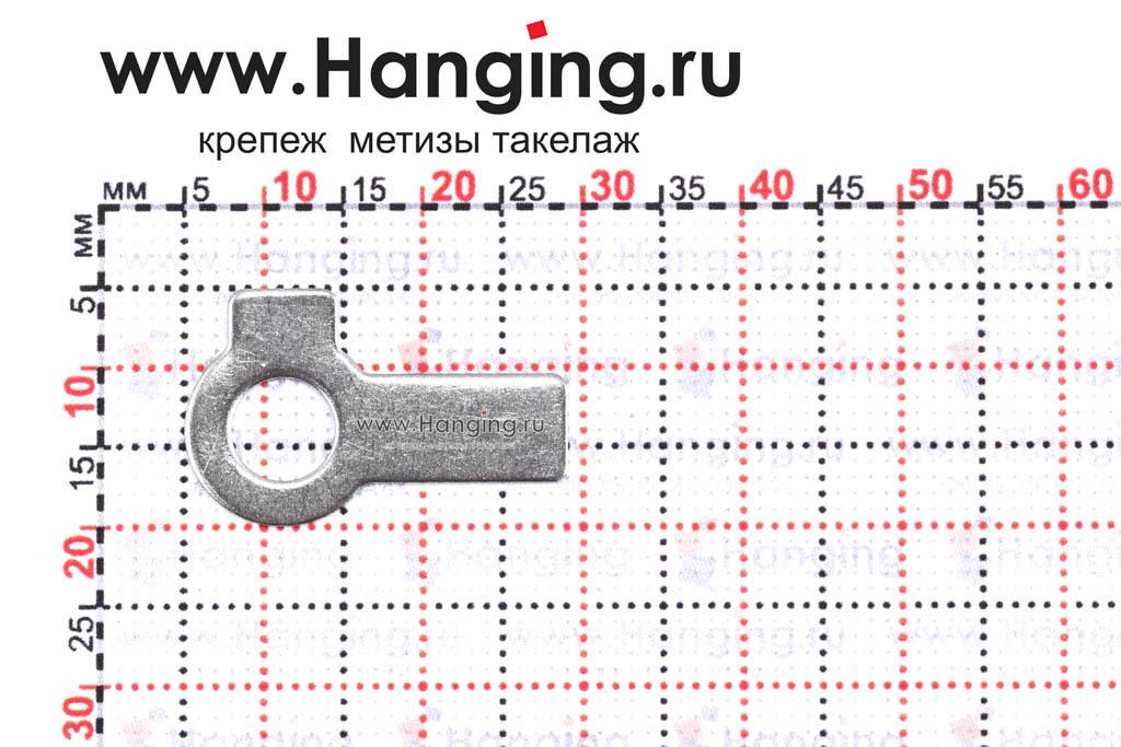 Размеры шайбы М6 стопорной с двумя лапками из нержавеющей стали А2 DIN 463