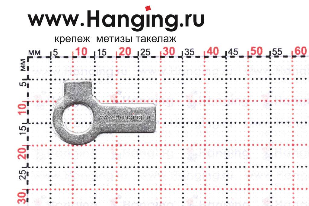 Размеры шайбы М6 стопорной с двумя лапками из нержавеющей стали А4 DIN 463