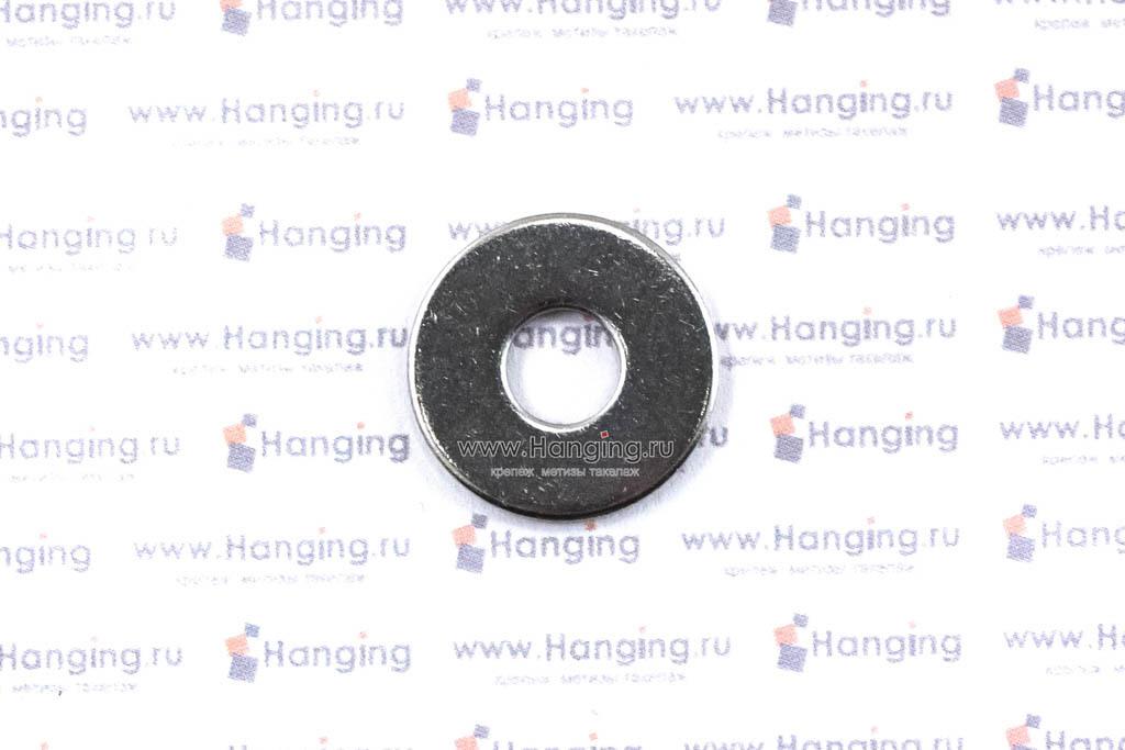 Шайбы М6 плоские увеличенные кузовные из нержавеющей стали А2 DIN 9021