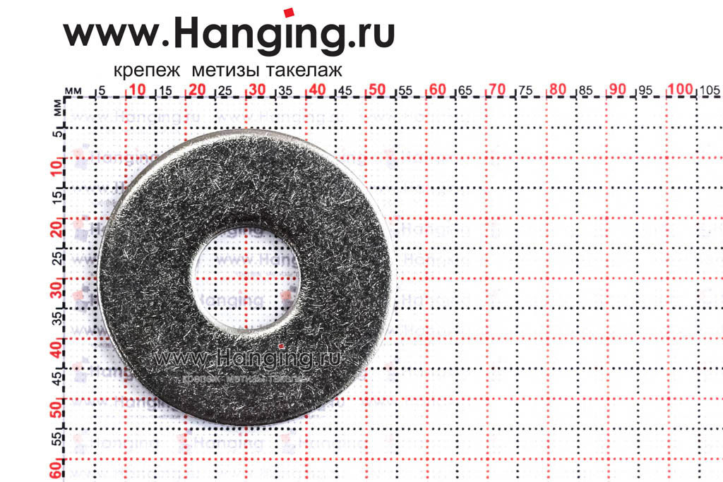 Размеры шайбы М16 плоской увеличенной кузовной из нержавеющей стали А2 DIN 9021