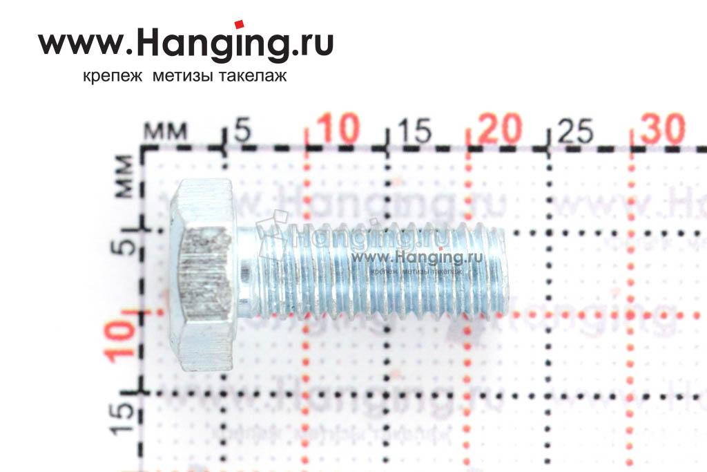 Размер резьбы оцинкованного болта с полной резьбой М6*16