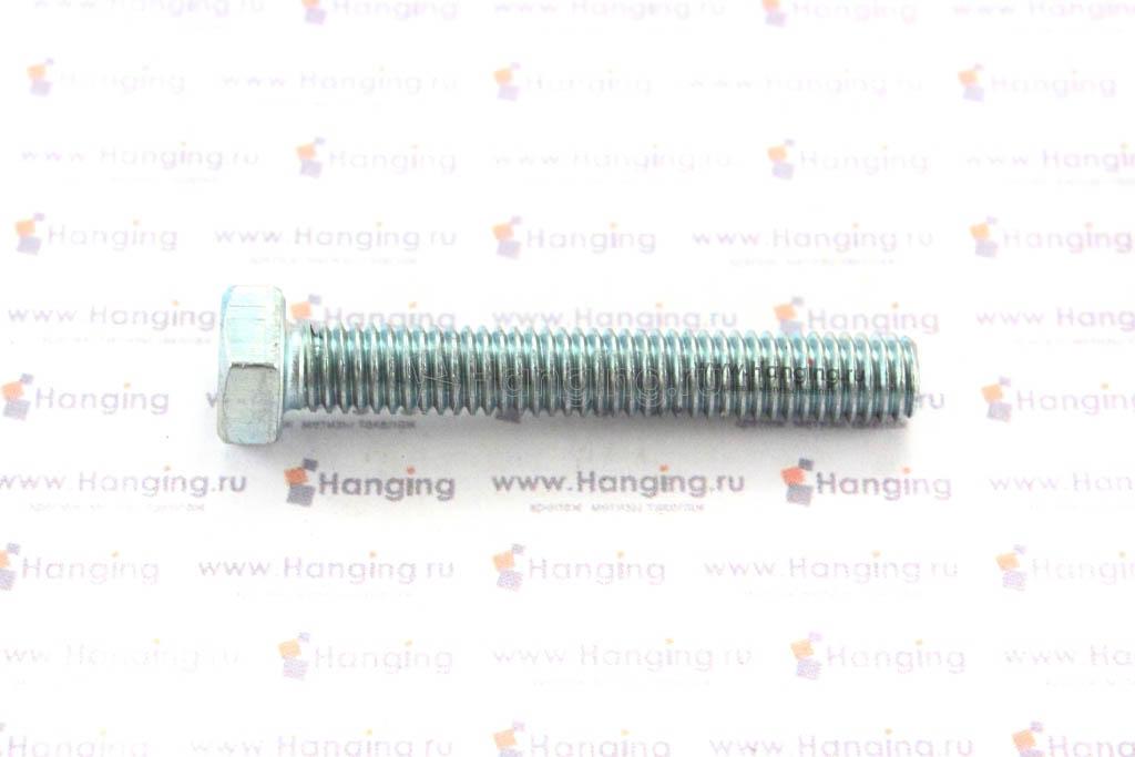 Болт оцинкованный с полной резьбой М6х40 DIN 933 кл. пр. 4.8