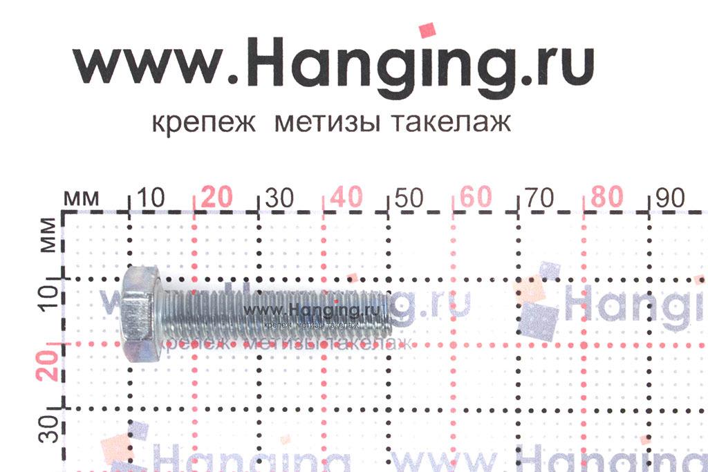 Размер резьбы оцинкованного болта с полной резьбой М8*35