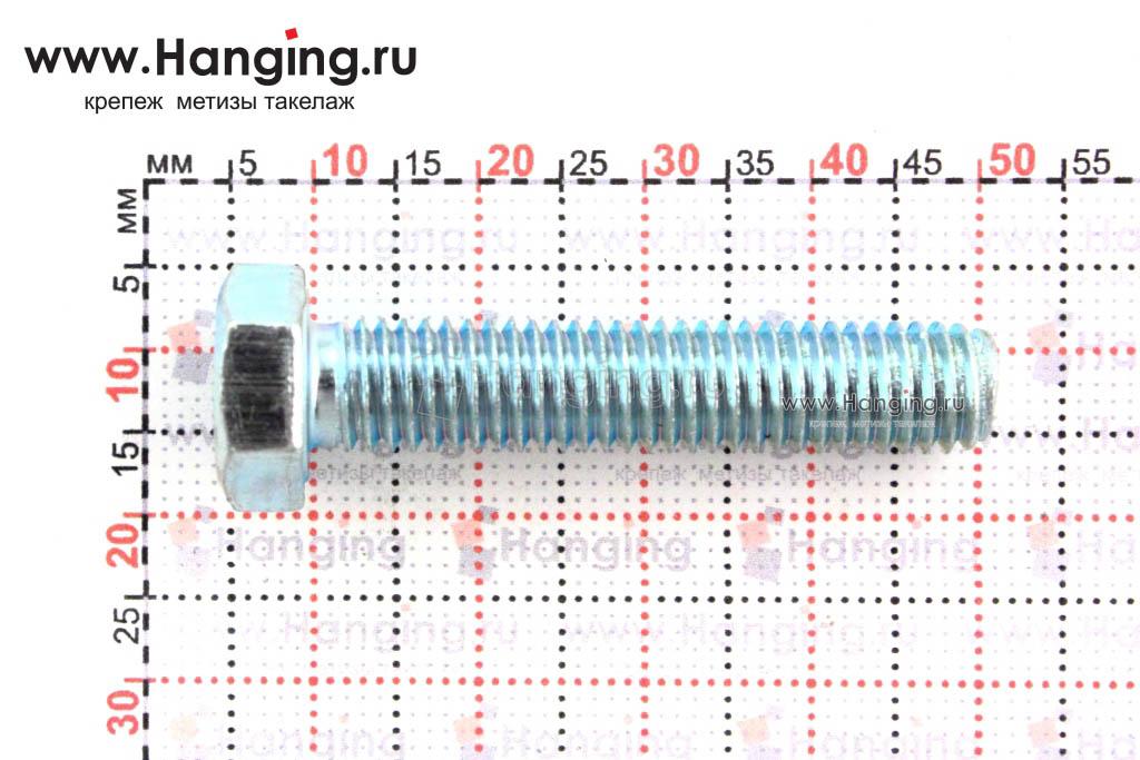 Размер резьбы оцинкованного болта с полной резьбой М8*40