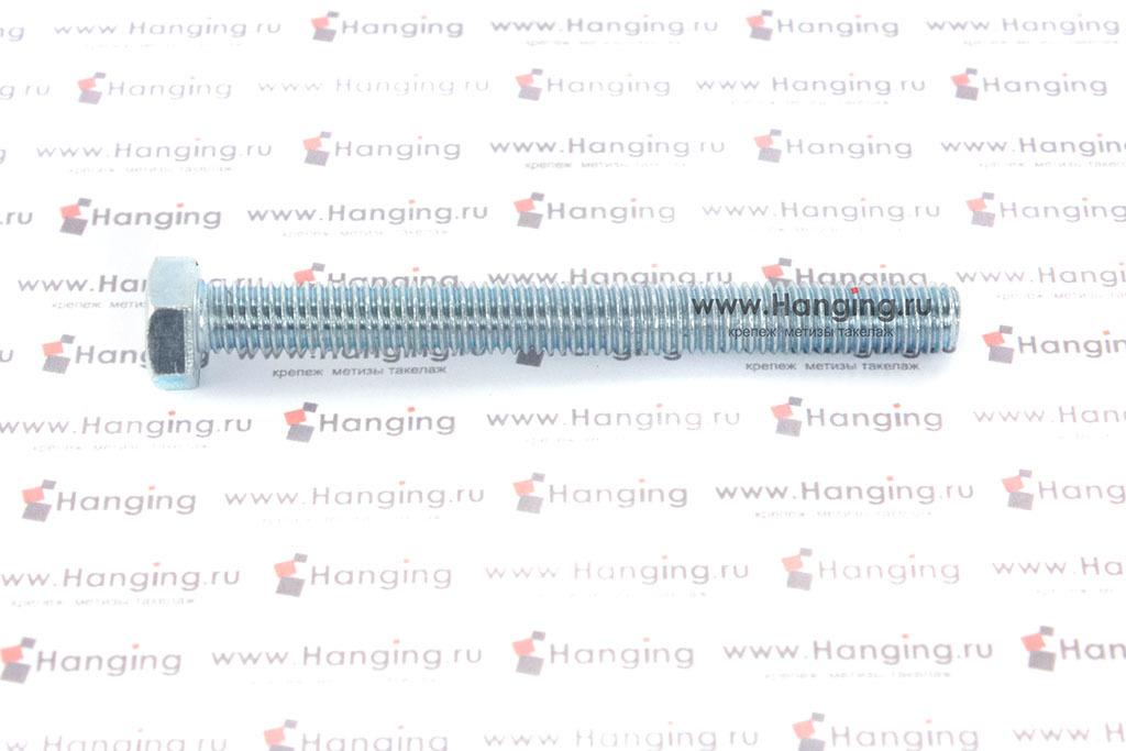 Болт оцинкованный с полной резьбой М8х80 DIN 933 кл. пр. 4.8