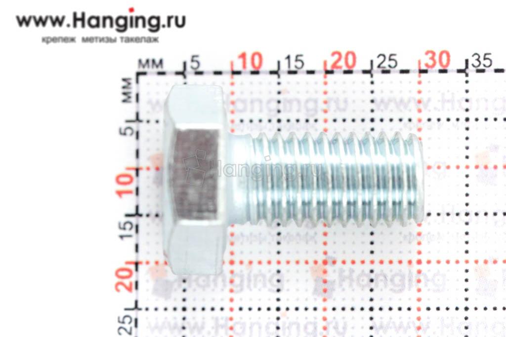 Размер резьбы оцинкованного болта с полной резьбой М10*20