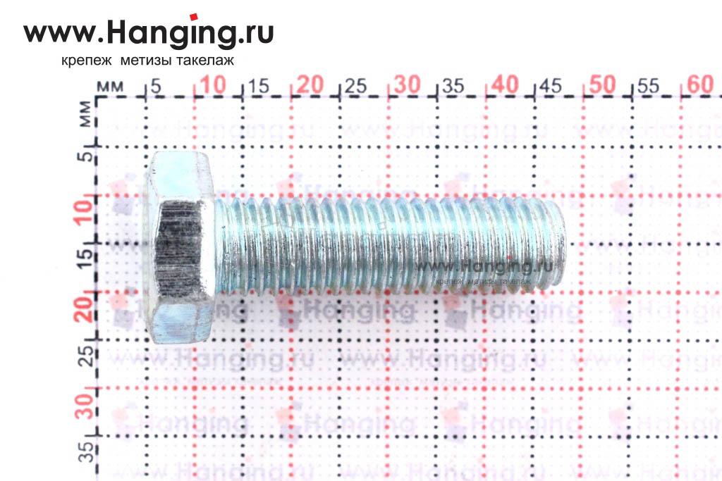 Размер резьбы оцинкованного болта с полной резьбой М10*35