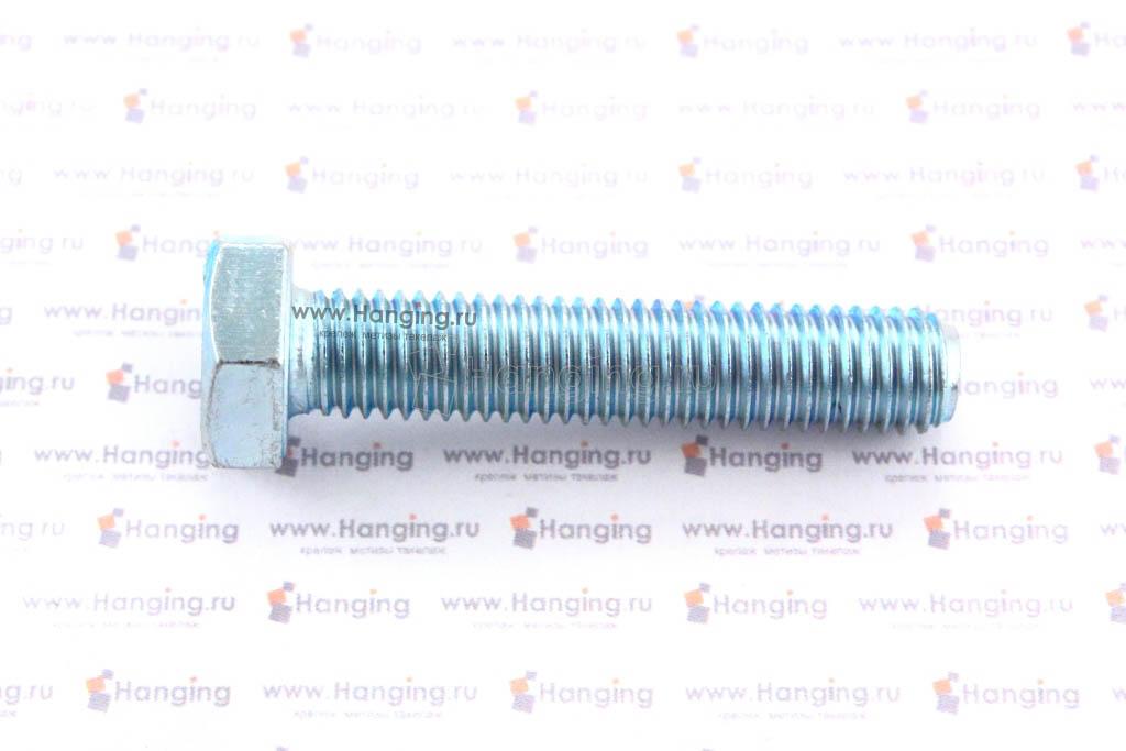 Болт оцинкованный с полной резьбой М10х50 DIN 933 кл. пр. 4.8