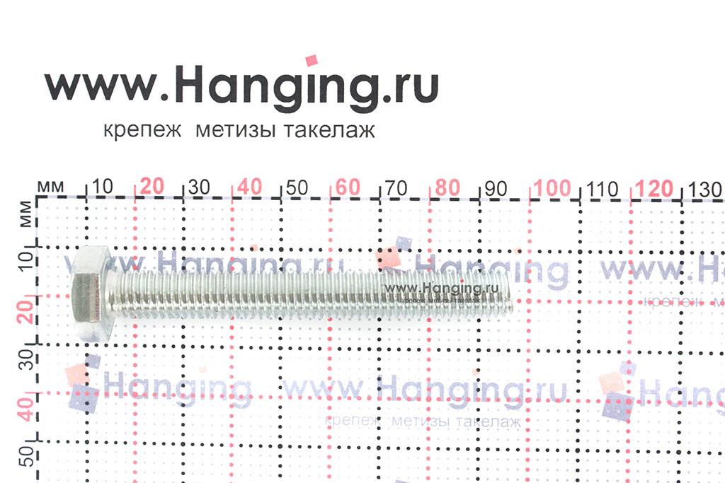 Размер резьбы оцинкованного болта с полной резьбой М10*80