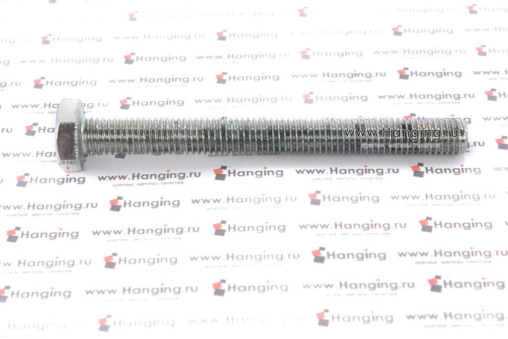 Болт оцинкованный с полной резьбой 4.8 М10х100