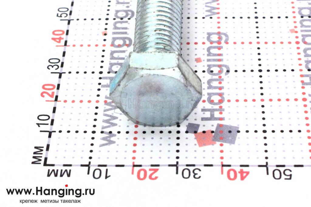 Размеры головки оцинкованного болта 10*130