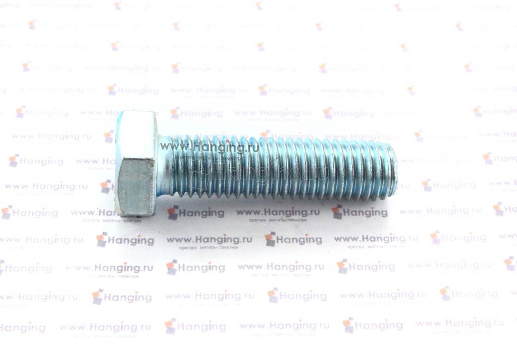 Болт оцинкованный с полной резьбой М12х45 DIN 933 кл. пр. 4.8