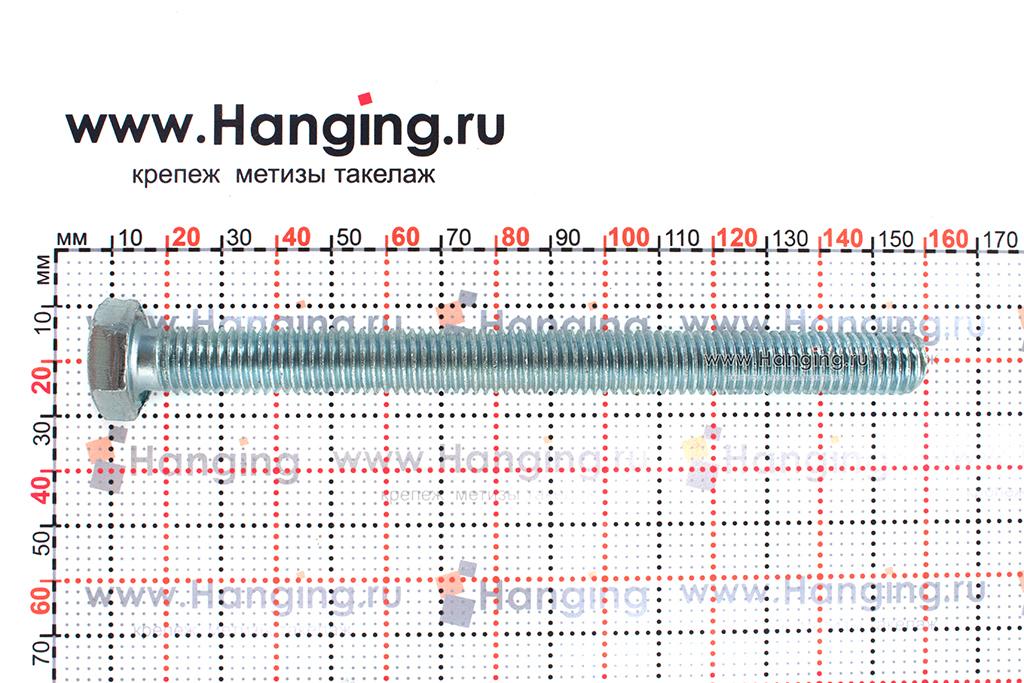 Размер резьбы оцинкованного болта с полной резьбой М12*140
