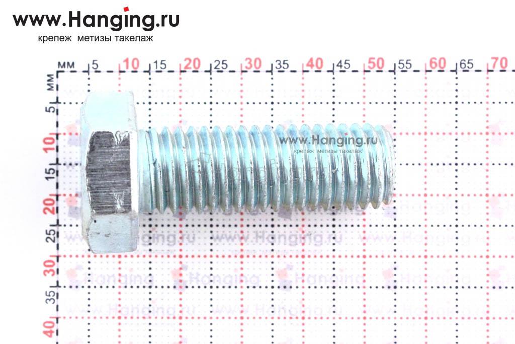 Размер резьбы оцинкованного болта с полной резьбой М14*40