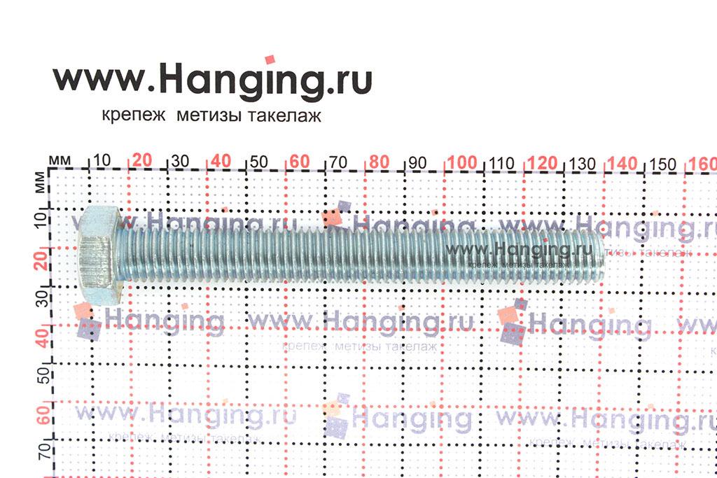 Размер резьбы оцинкованного болта с полной резьбой М14х120 класса прочности 4.8
