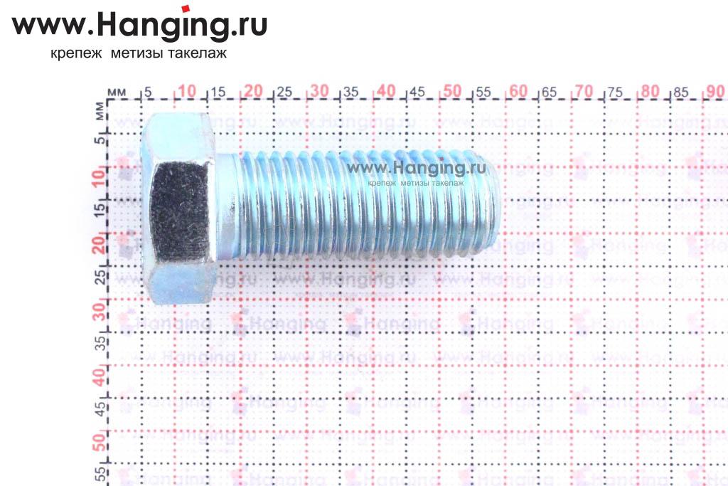 Размер резьбы оцинкованного болта с полной резьбой М16*40