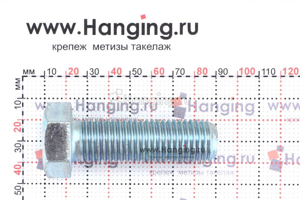 Размер резьбы оцинкованного болта с полной резьбой М16х100 класса прочности 4.8
