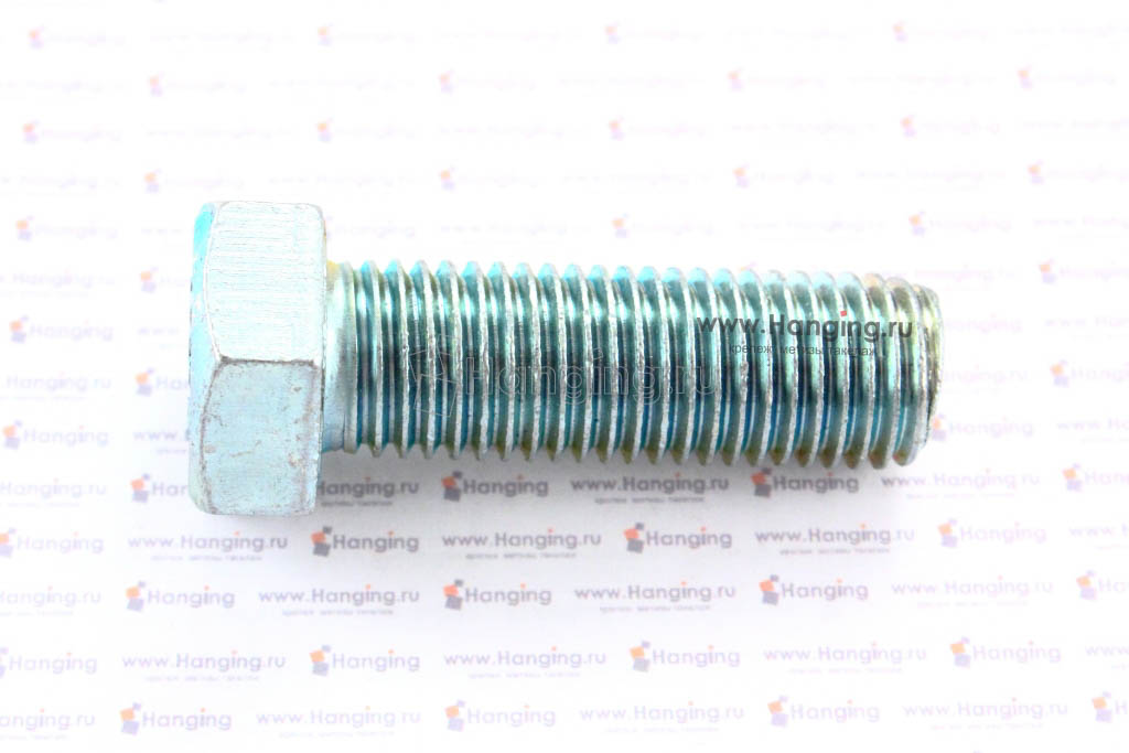 Болт оцинкованный с полной резьбой 4.8 М20х60