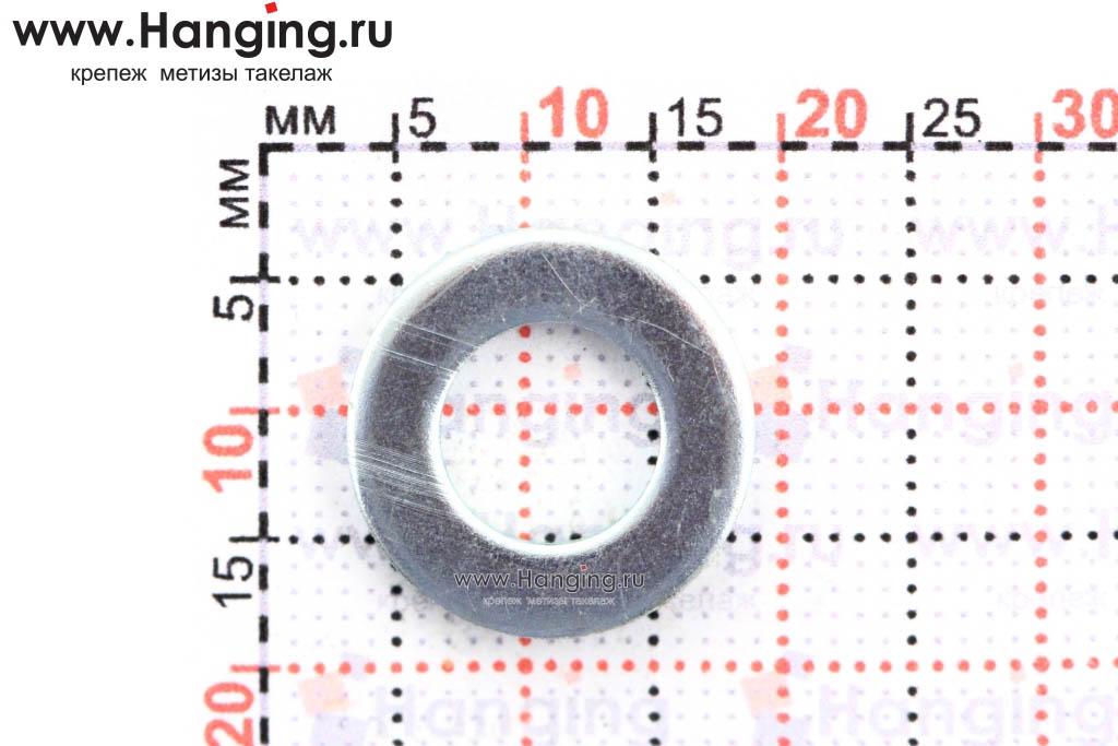 Размеры отверстия и шайбы М8